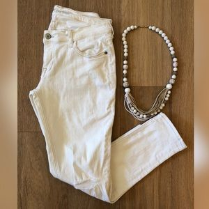 OLD NAVY Off-White Distressed Skinny Jeans MINT